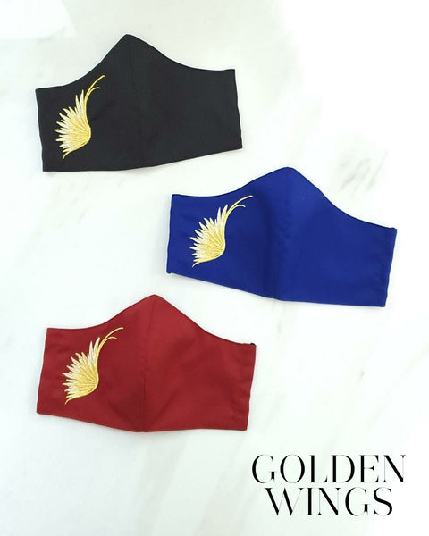 *) GOLDEN WINGS Reusable Mask