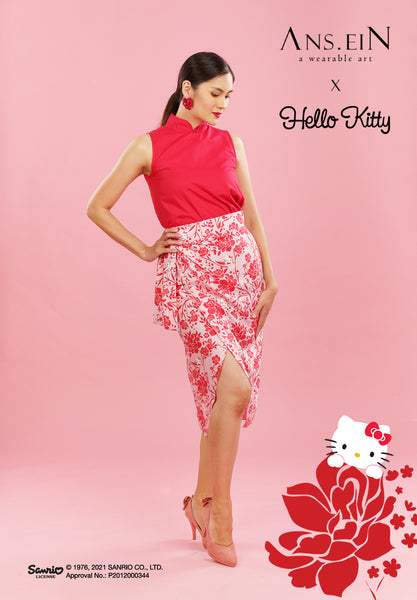 Basic Cheongsam Top Red HKT