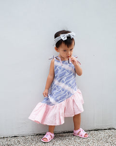 Mini Twirl Dress BATIK PARANG LILAC