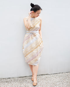 BATIK PARANG GOLD Tulip Dress