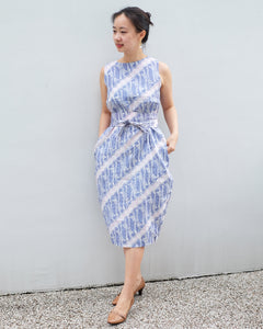 Tulip Dress BATIK PARANG LILAC