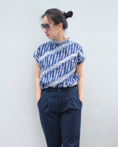 PARANG NAVY Multiway Top BATIK