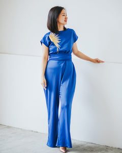 GOLDEN WINGS Royal Blue Jumpsuit