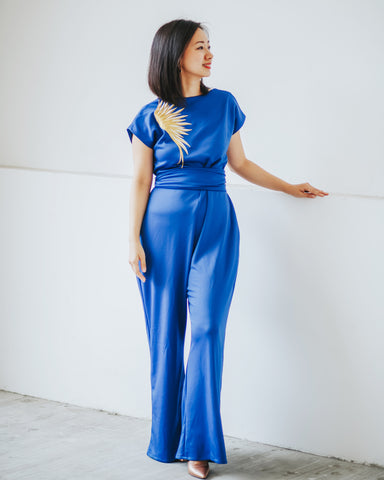 GOLDEN WINGS Royal Blue Jumpsuit #cny