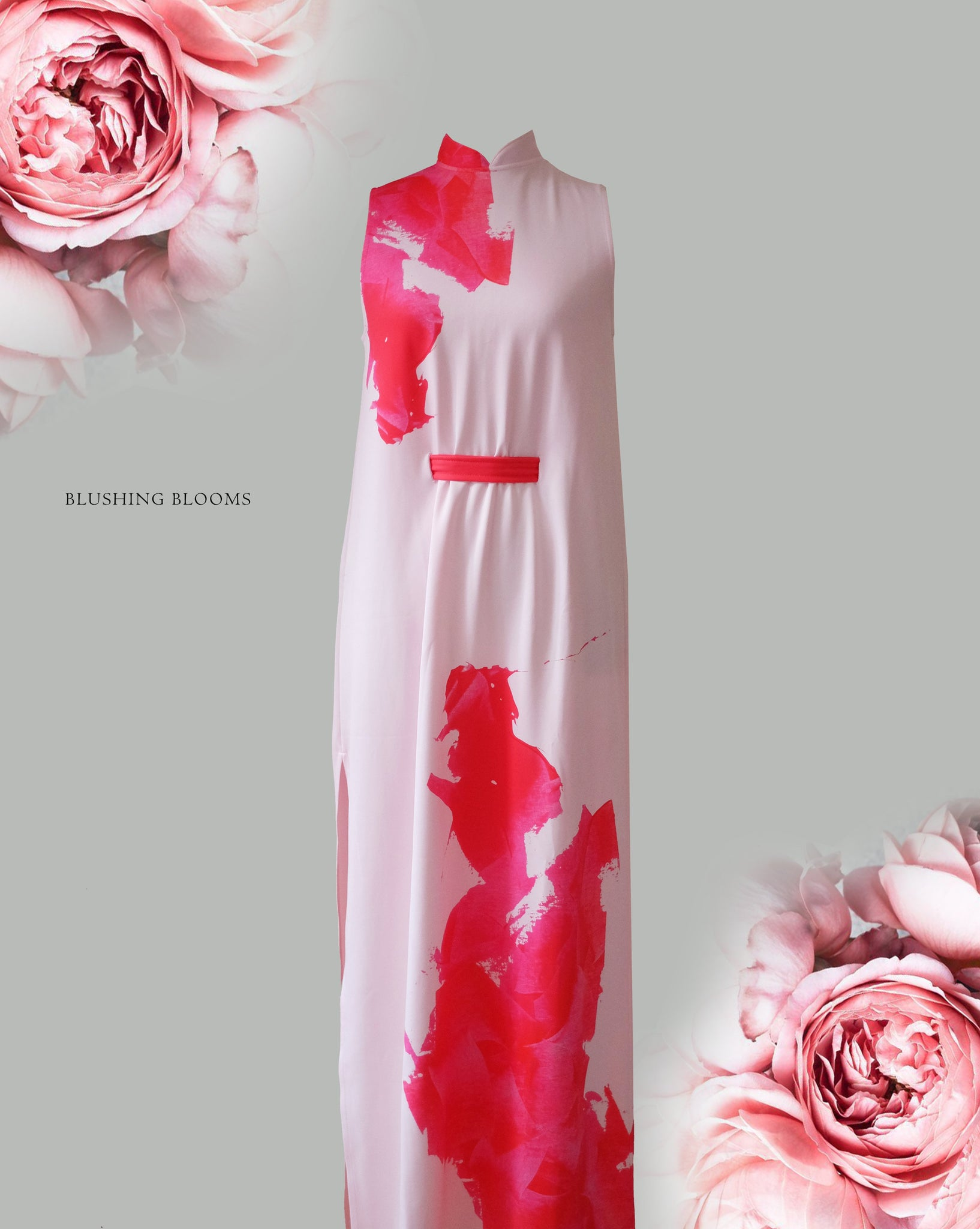BLUSHING BLOOMS Maxi Dress