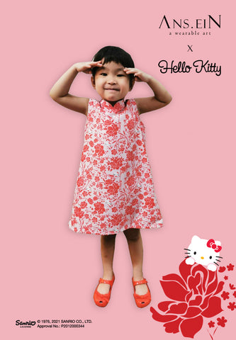 HELLO KITTY PEONY MiniMe Cheongsam Dress