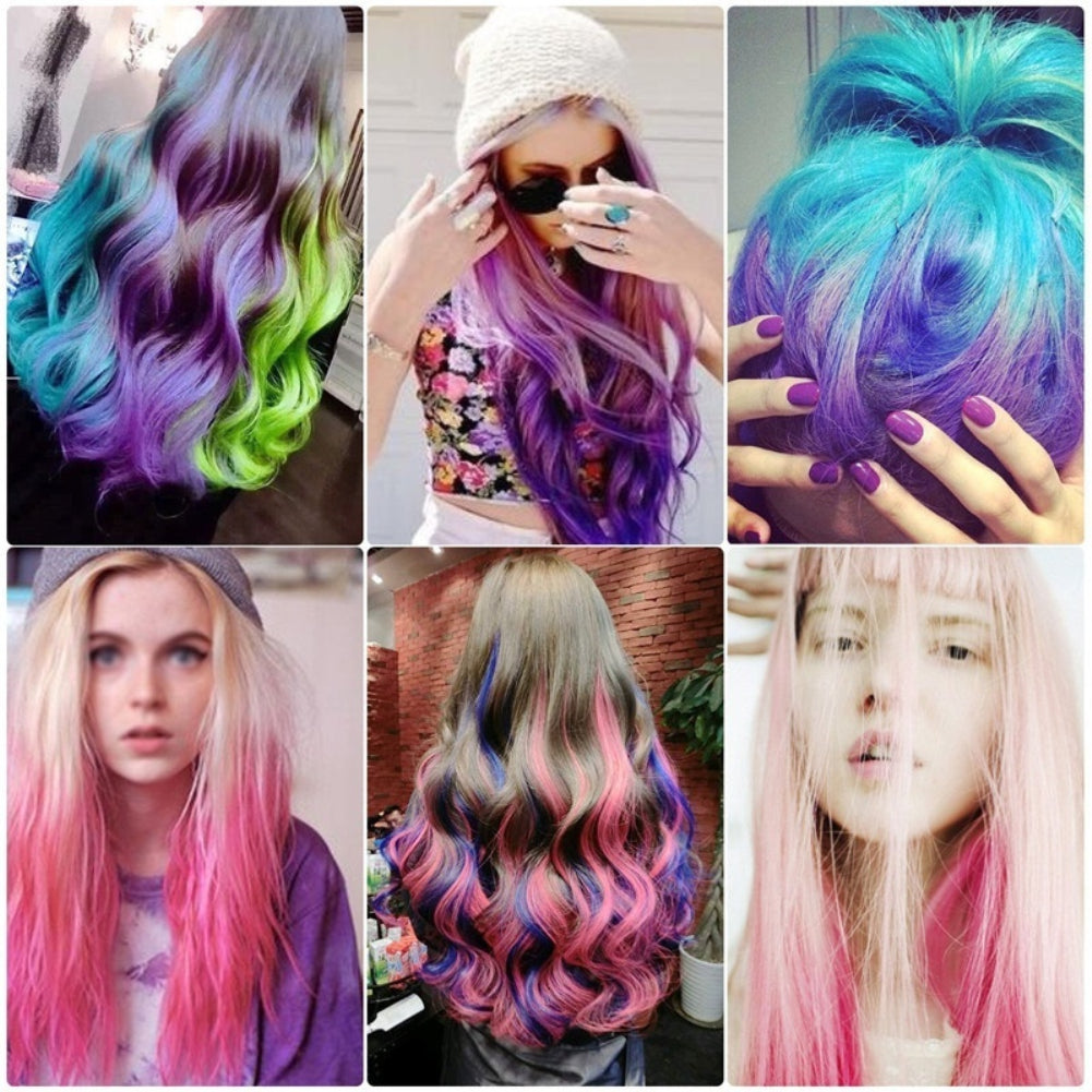 Hair Chalk Pens For Girls Kids,Hair Chalk Temporary Bright Hair Color  Washable Hair Dye Safe For Kids Girls And Teen, Perfect For Christmas ...