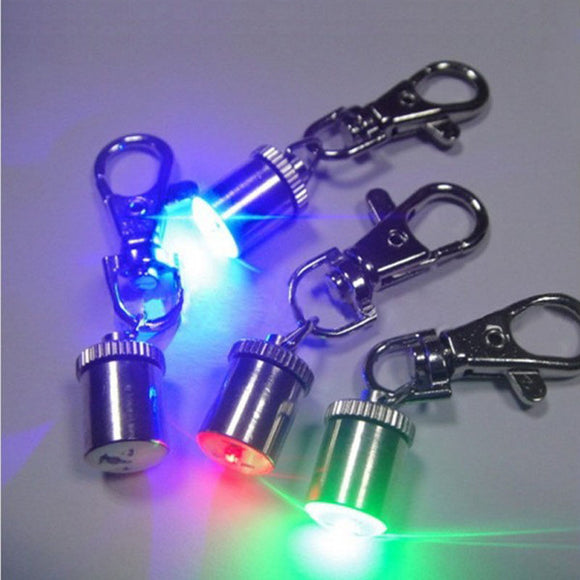 DOG COLLAR CUTE KEYCHAIN LED LIGHT FLASHING SIGNAL LAMP PENDANT CHARMS PET ACCES