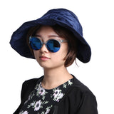 WOMEN GIRLS CAP STRAW HAT BIG VISOR FOLDABLE CRIMPING BEACH SUN.