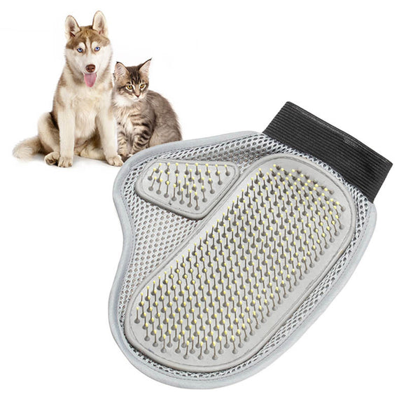 PET GROOMER MESH BRUSH COMB DOG HAIR CLEANING MASSAGE BATH GLOVE PET ACCESSORIES