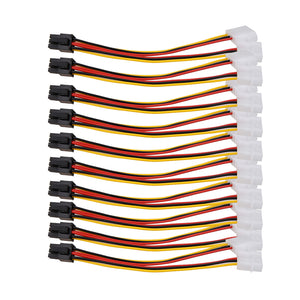 10PCS 6PIN CABLE CONNECTOR MOLEX POWER CONVERTER PCI EXPRESS ADAPTER POWER SUPPLY