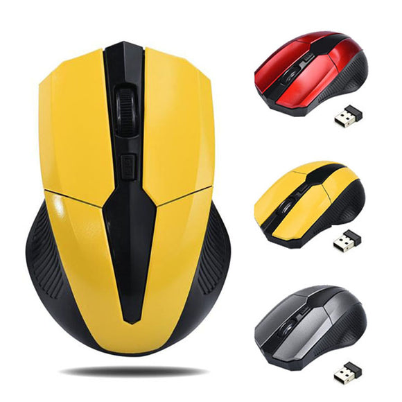 WIRELESS GAMING MOUSE SEM FIO 2000DPI ADJUSTABLE OPTICAL CORDLESS MOUSE USB RECEIVER PC COMPUTER LAPTOP.