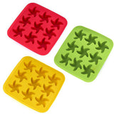 SILICONE MOLD MAKER DIY STRAWBERRY STAR PINEAPPLE SHAPE ICE CREAM CAKE ICE CUBE TRAY.
