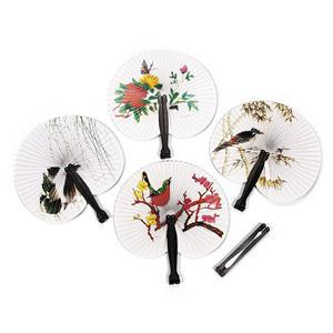 WEDDING DECORATION CUTE PAPER FOLDING HAND FAN EVENT PARTY SUPPLIES.