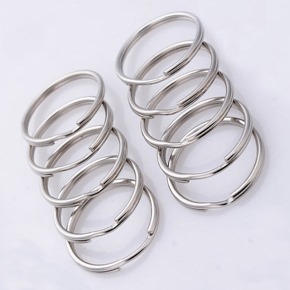 CHAIN ALLOY SPLIT KEYRING HOLDER CHARM METAL KEYCHAIN CREATIVE JEWELRY.