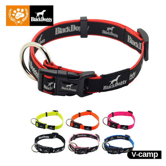 DOG COLLAR PET ACCESSORIES DURABLE NYLON NECKLACE ADJUSTABLE LED SOFT.