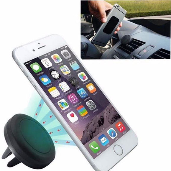 MOBILE HOLDER AIR VENT MOUNT STAND UNIVERSAL 360 DEGREE CAR STYLING GPS MAGNETIC