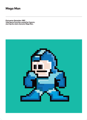 Retro Video Game Poster Prints, They are Mega Man!