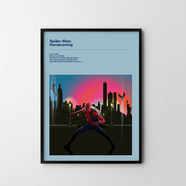 SPIDERMAN Homecoming 2017 , Poster Art Print, Movie Film Posters - SOA State of Art