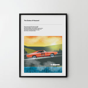 DUKES OF HAZZARD TV Art Poster Print 70's TV - SOA State of Art