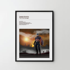 CAPTAIN AMERICA The First Avenger 2011 Poster Art Print, Movie Film Posters Gift - SOA State of Art