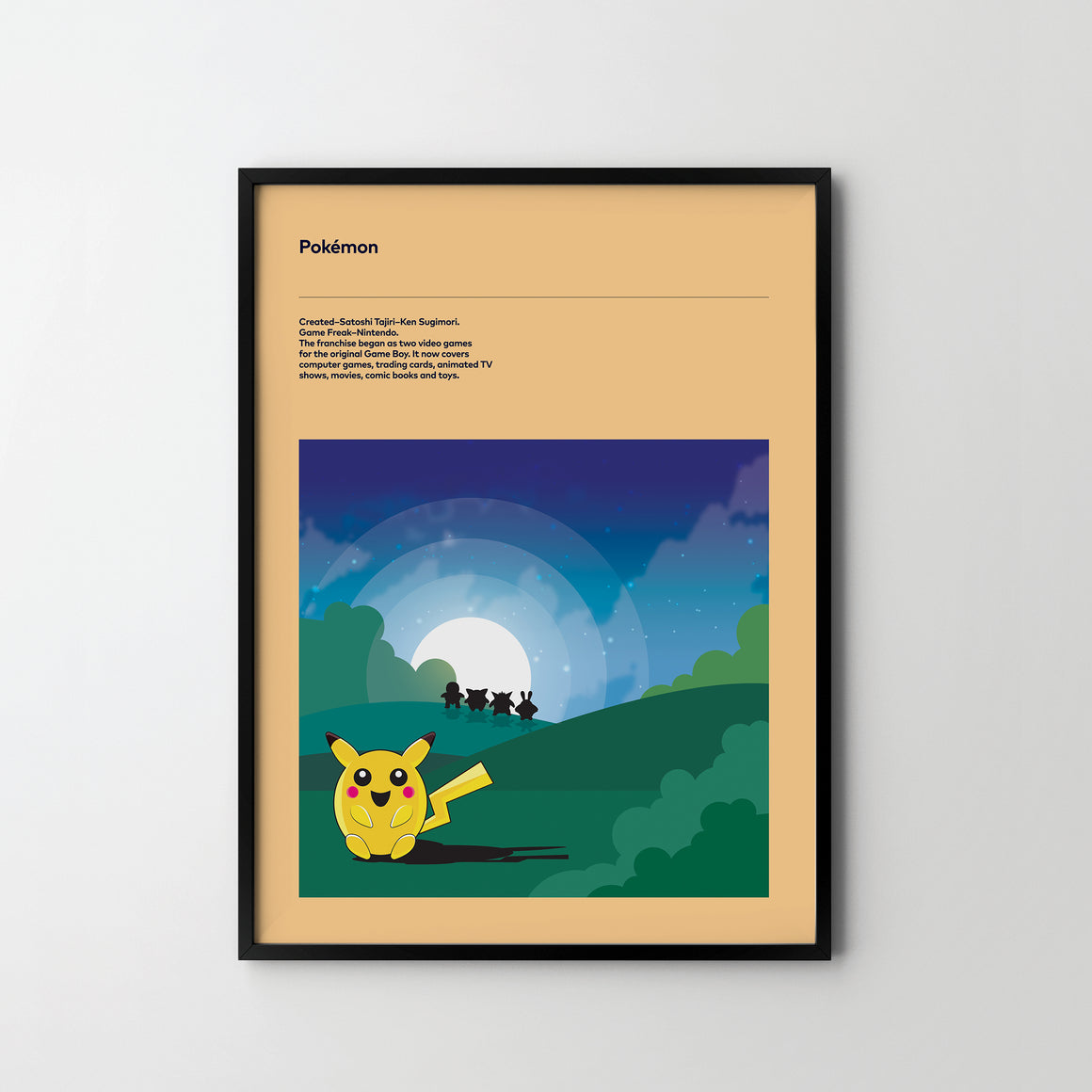 POKEMON Retro Poster Art Print, Video Game Posters Pokemon - SOA State of Art