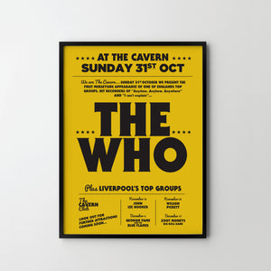 THE WHO Cavern Retro Concert Music Art Poster Print 60s - SOA State of Art