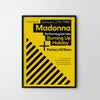 MADONNA Hacienda 1984 Retro Concert Music Art Poster Print - SOA State of Art