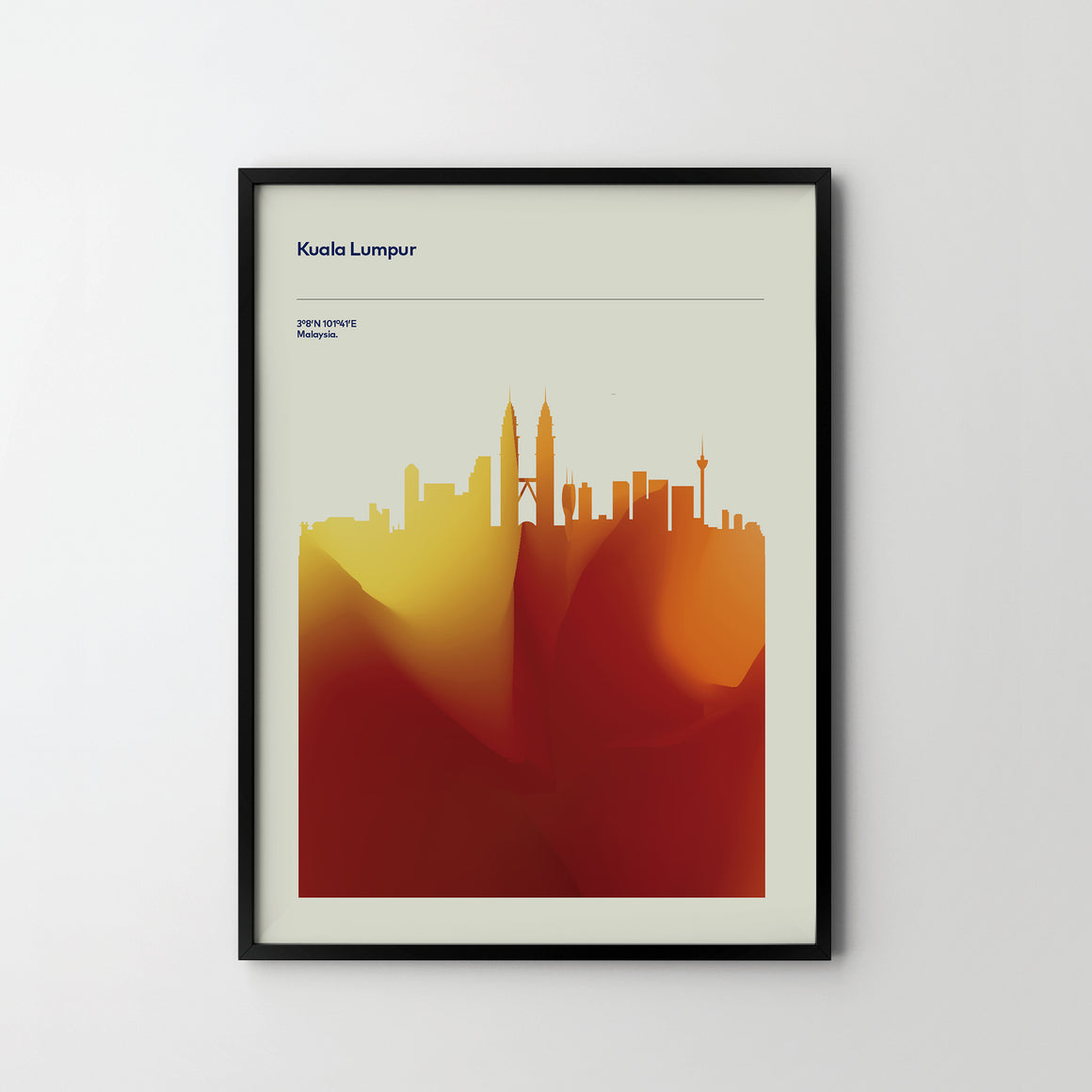 KUALA LUMPUR City Cityscape Skyline Unique Poster Art Print, Places Posters - SOA State of Art
