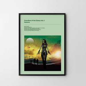 GUARDIANS OF GALAXY Vol. 2 GAMORA 2017 Original Design Poster Art Print, Movie Film Posters frames - SOA State of Art