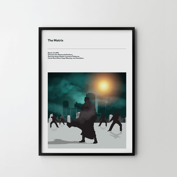 THE MATRIX 1999, Poster Art Print, Movie Film Posters Keanu Reeves Sci Fi - SOA State of Art