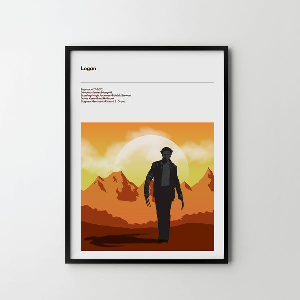 LOGAN 2017 Poster Art Print, Movie Film Posters X men Hugh Jackman - SOA State of Art