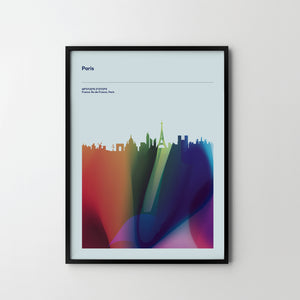 PARIS City Cityscape Skyline Unique Poster Art Print, Places Posters - SOA State of Art