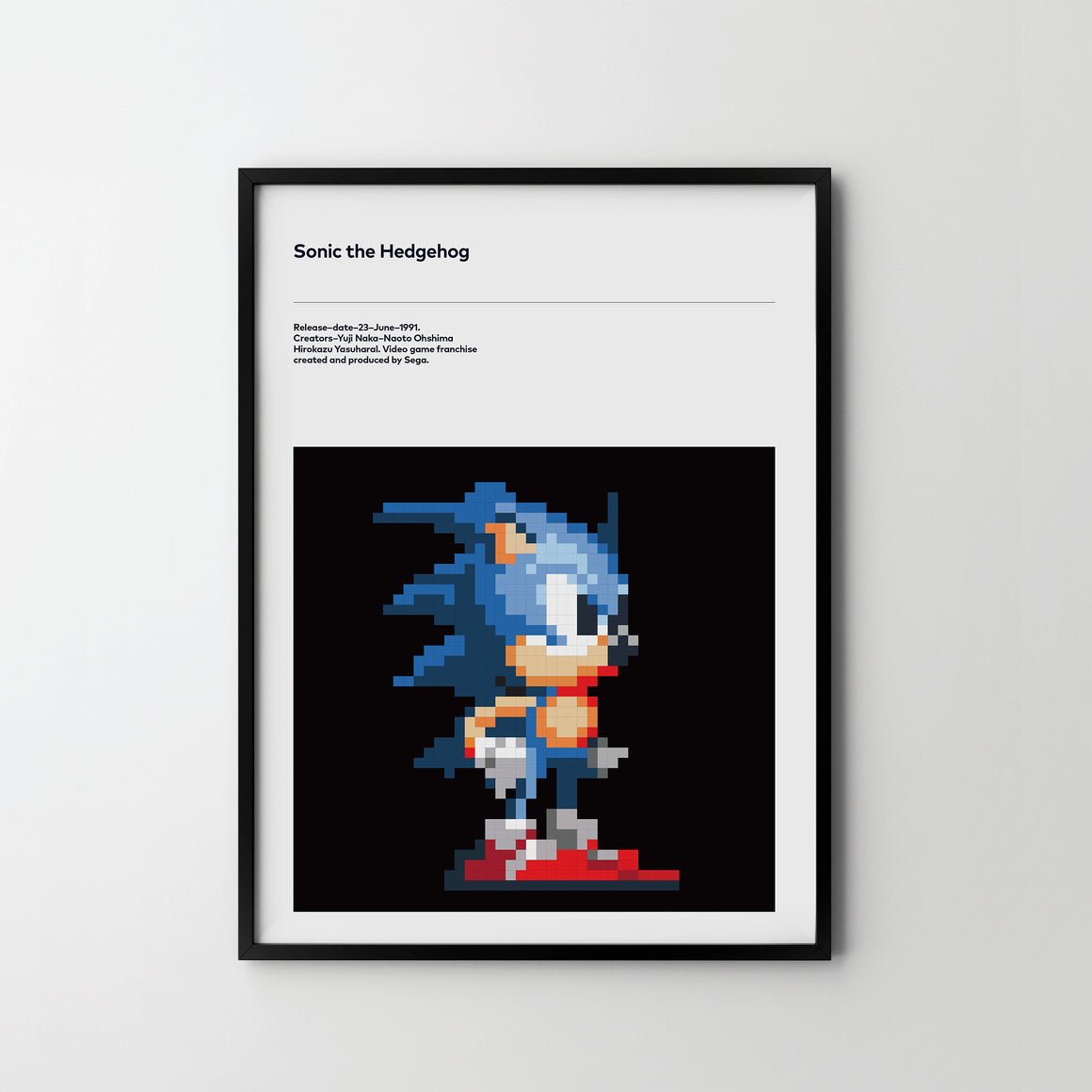 SONIC The Hedgehog Retro Video Game Art Poster Print Sonic - SOA State of Art