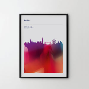 LONDON CITY Cityscape Skyline Unique Poster Art Print, Places Posters - SOA State of Art