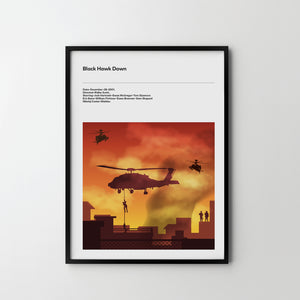 BLACK HAWK DOWN Poster Art Print, Movie Poster Print - SOA State of Art