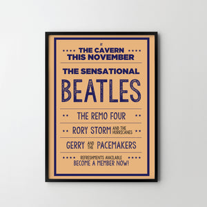 THE BEATLES Cavern Retro Concert Music Art Poster Print - SOA State of Art