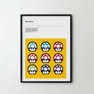 SUPER MARIO 2 - Retro Video Game Art Poster Print Mario - SOA State of Art