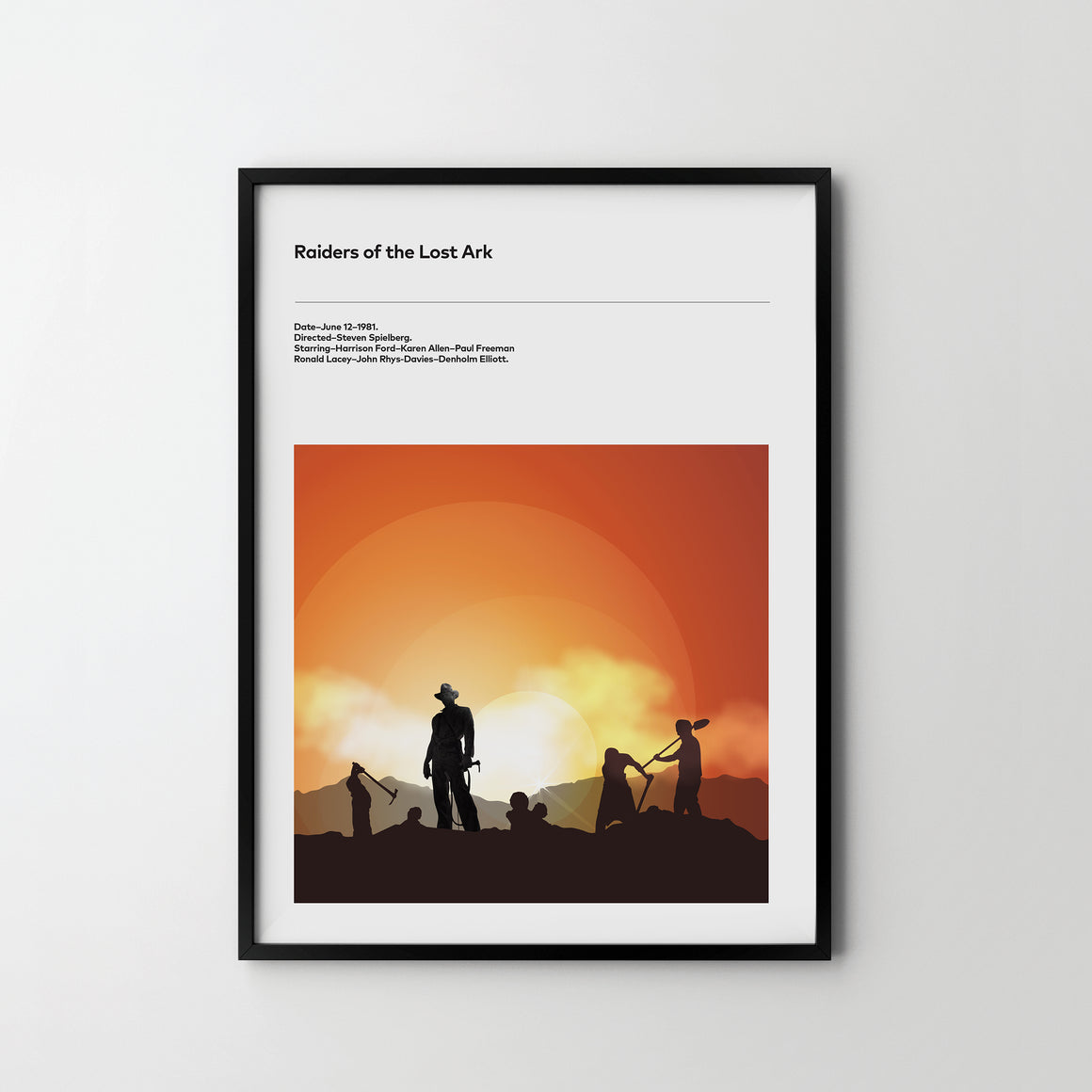 INDIANA JONES Raiders Of The Lost Ark 1981 Movie Film Art Poster Print Harrison ford - SOA State of Art