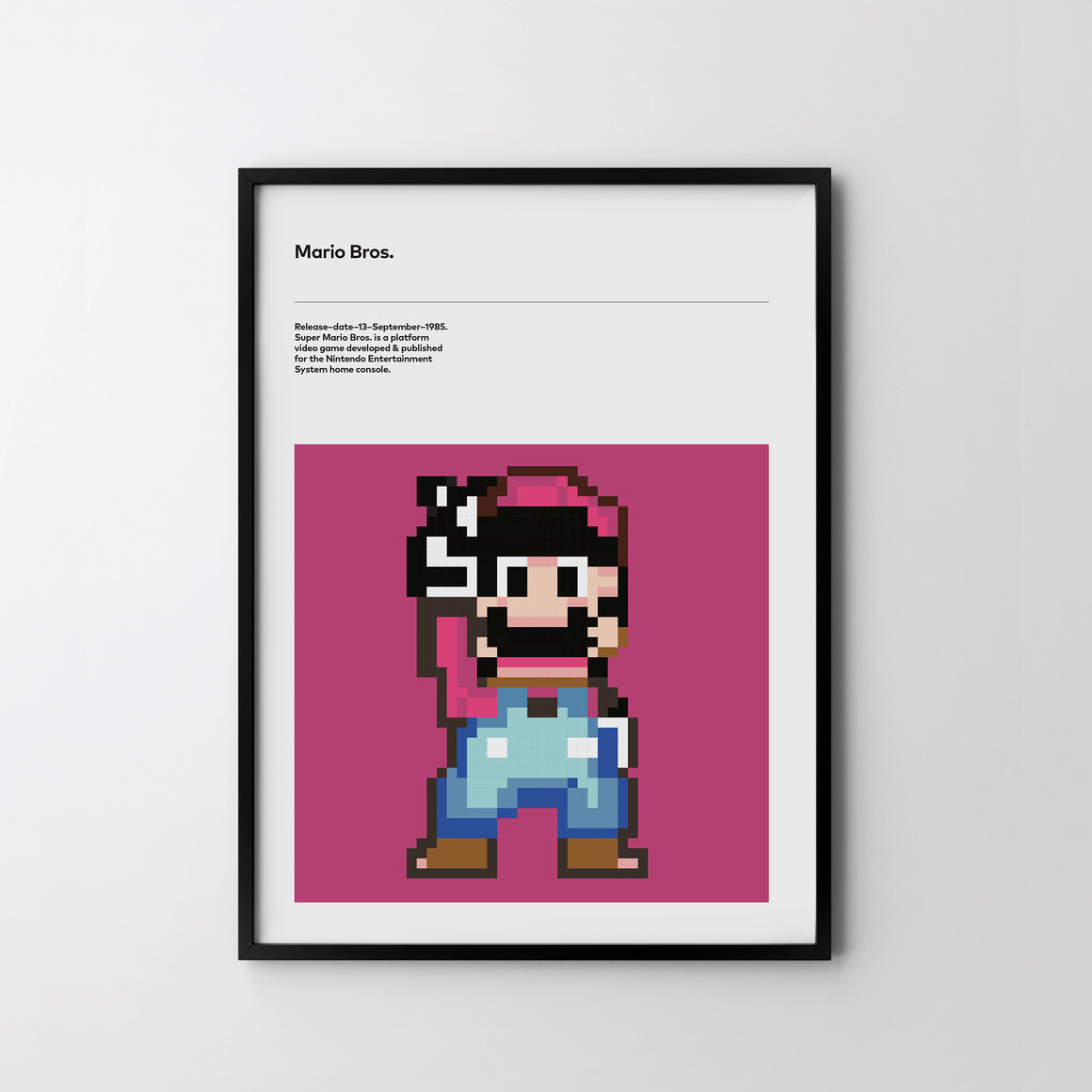 SUPER MARIO Retro Video Game Art Poster Print - SOA State of Art