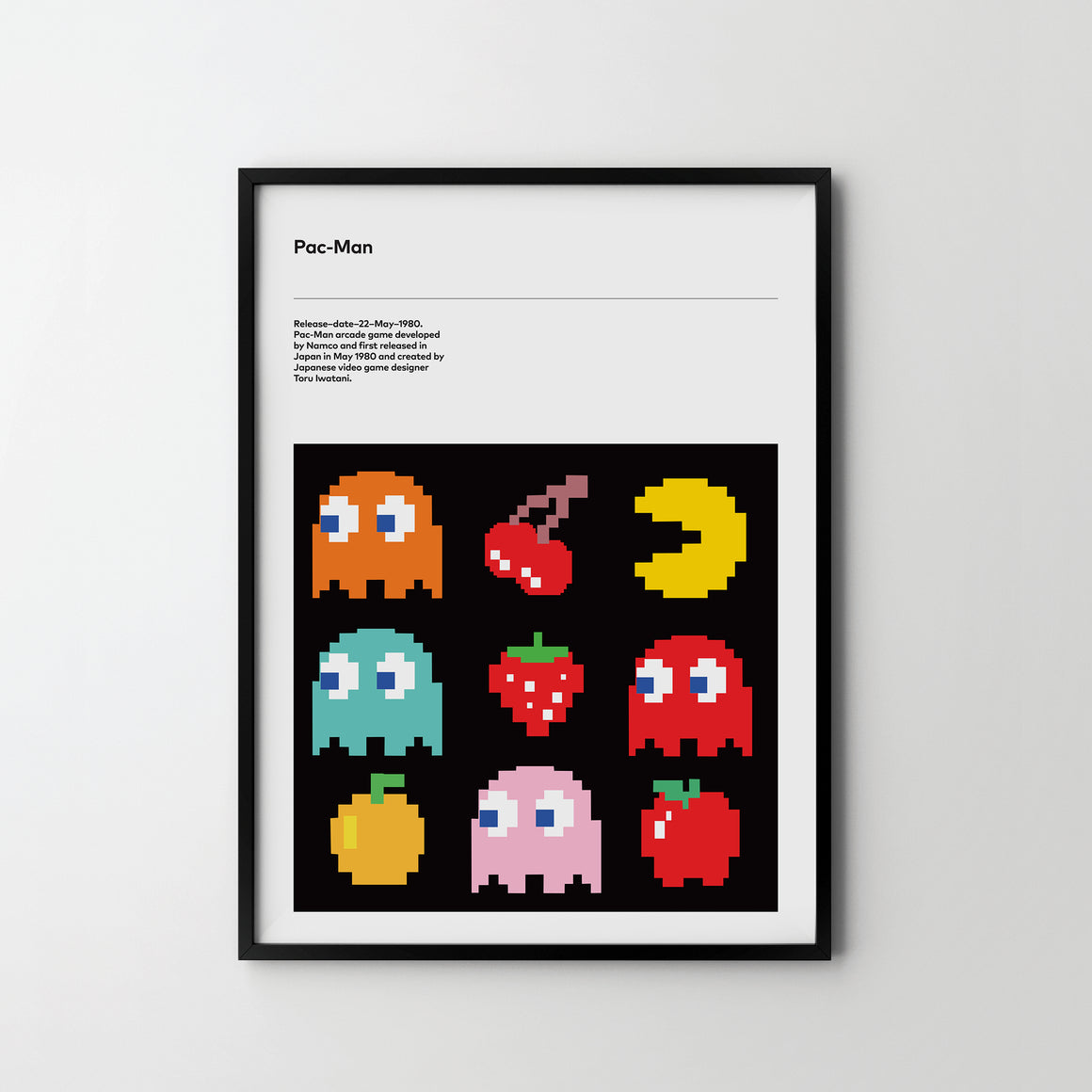 PAC MAN Retro Poster Art Print, Video Game Posters PAC MAN - SOA State of Art