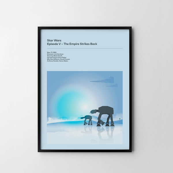 STAR WARS Empire Strikes Back Poster Art Print, Movie Film Posters, Star Wars - SOA State of Art