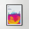 DUBAI City Cityscape Skyline Unique Poster Art Print, Places Posters - SOA State of Art