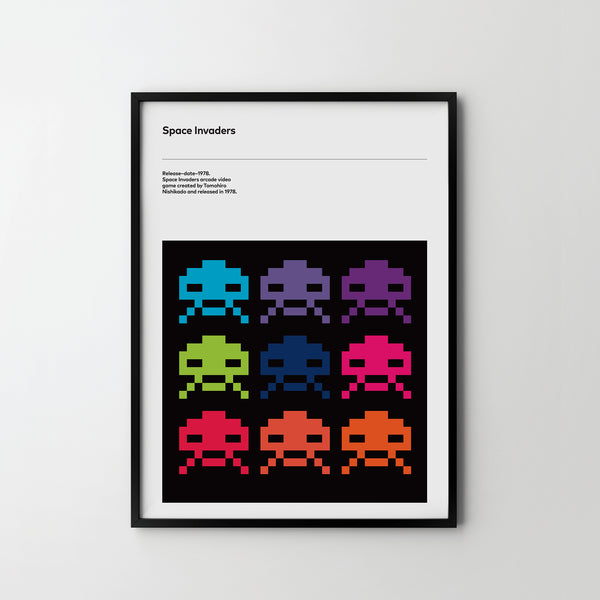 SPACE INVADERS Retro Poster Art Print, Video Game Posters - SOA State of Art
