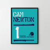 CAM NEWTON Carolina Panthers American Football NFL Poster Art Print, Sport Posters - SOA State of Art