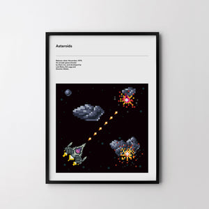 ASTEROIDS Retro Poster Art Print, Video Game Posters, ARCADE GAME 1979 poster art - SOA State of Art