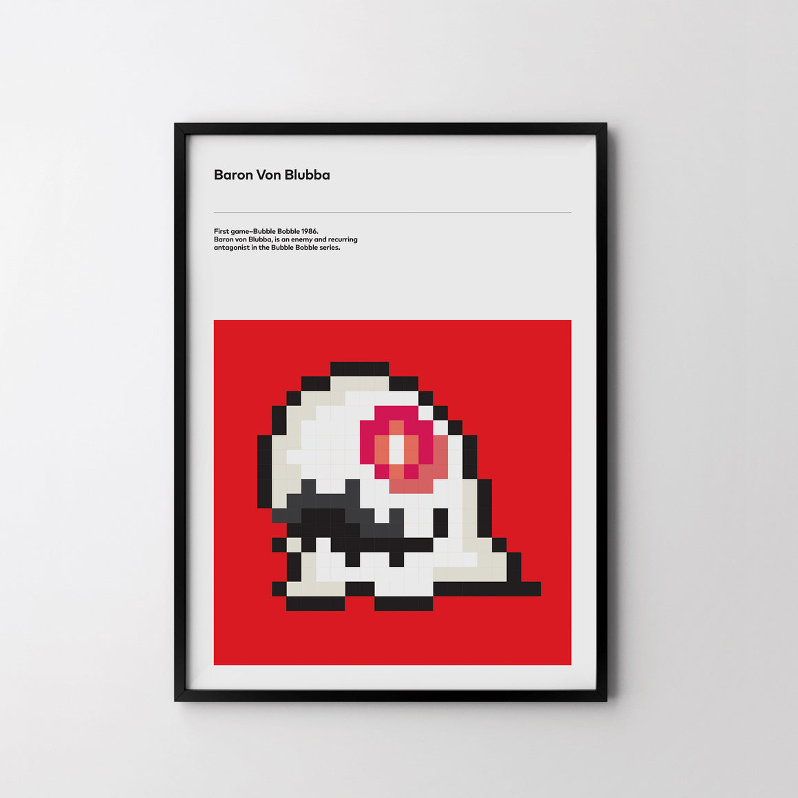 BARON VON BLUBBA 1986 Retro Poster Art Print, Video Game Posters, Bubble Bobble Poster - SOA State of Art