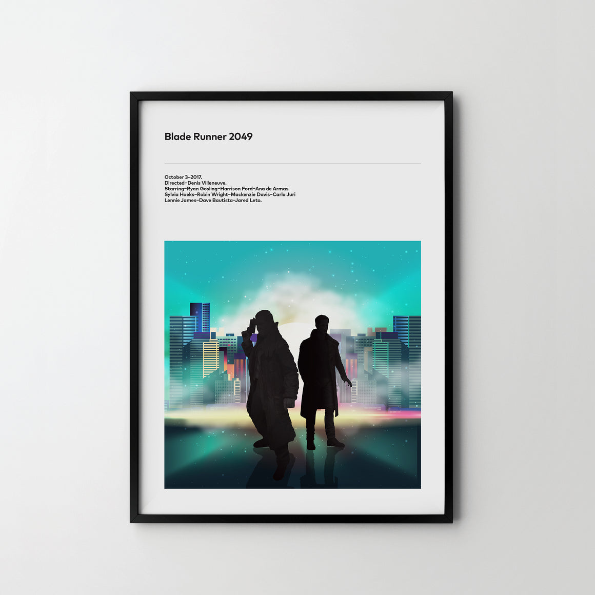 BLADE RUNNER 2049 Retro Poster Art Print, Movie Film Posters Harrison Fird - SOA State of Art