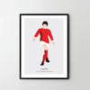 GEORGE BEST Footballer Illustrative Poster Art Print, Sport Posters, Legends - SOA State of Art