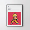 GOKU Dragon Ball 1984 Retro Poster Art Print, Video Game, Arcade Minimal Poster - SOA State of Art